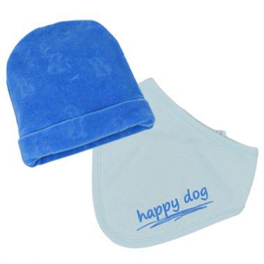 Сет за изписване ''Точици'' в синьо от 5 части с щампа кученце