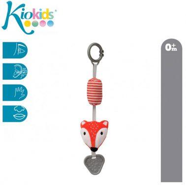 Лисичка - дрънкалка с халка за закачване