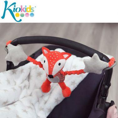 Плюшена дрънкалка лисиче за детска количка