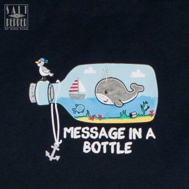 Тениска с морска щампа от Salt & Pepper в тъмно син цвят