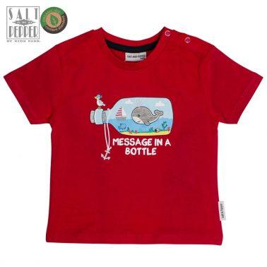 Тениска с морска щампа от Salt & Pepper в червено