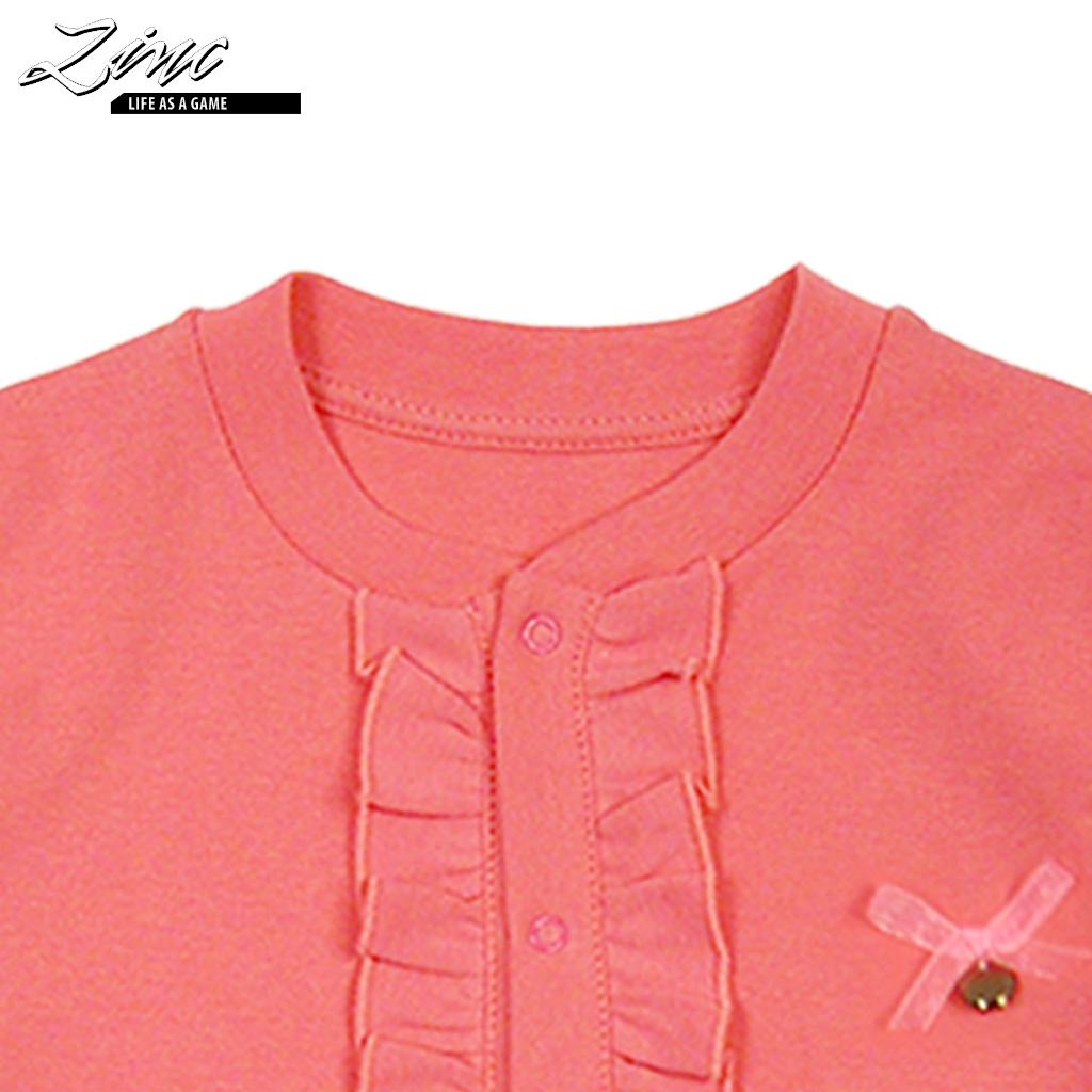 Трикотажна жилетка с тик-так копчета и жабо в тъмно розово