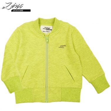 Суитшърт в ярко зелен цвят с джобчета и бродерия