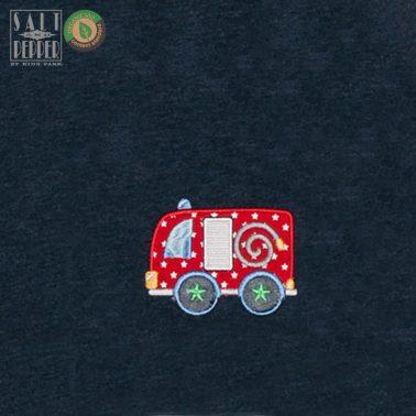 Двулицево яке в тъмно синьо от Salt & Pepper с бродирана пожарна кола