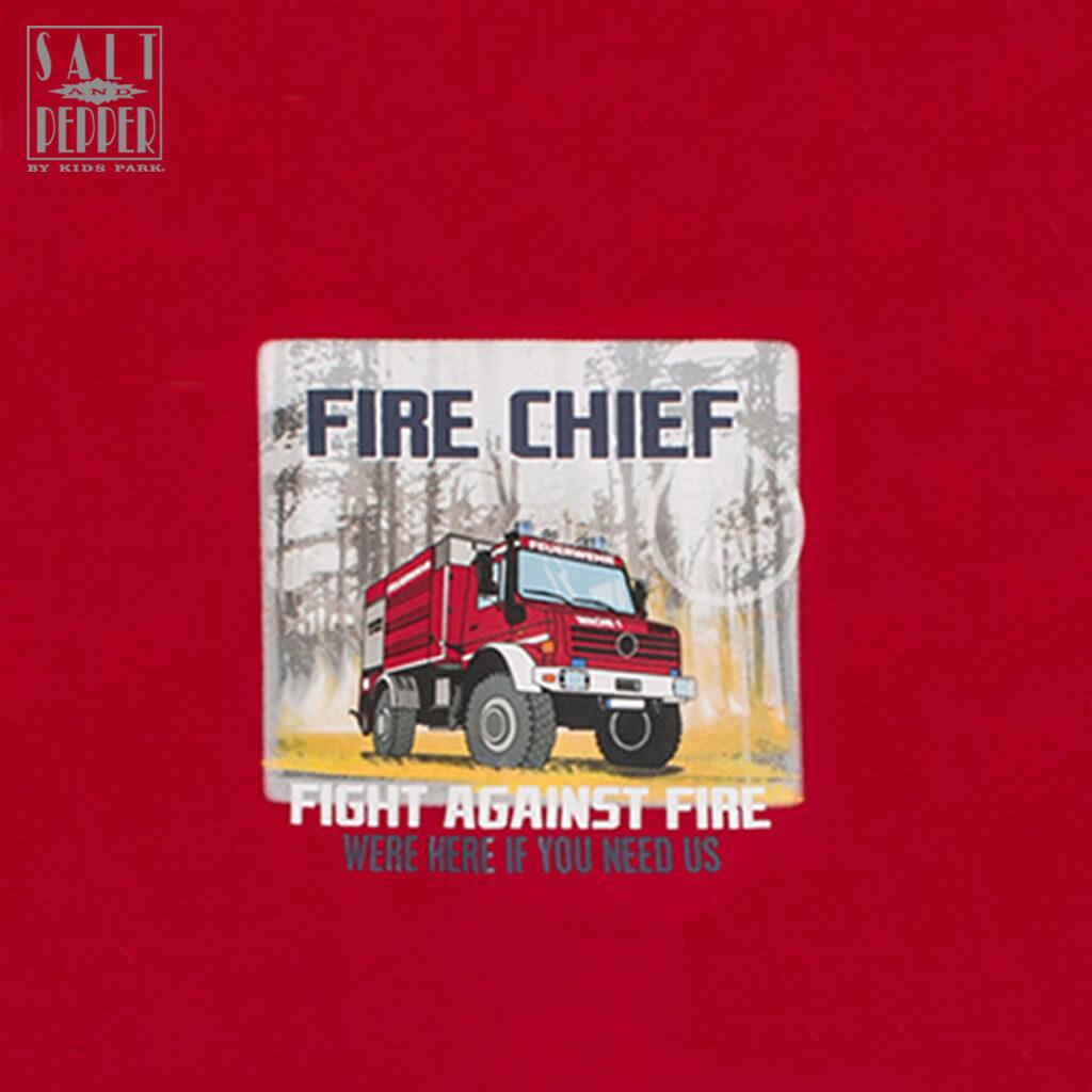 Блуза в червено с щампа пожарен камион от Salt & Pepper
