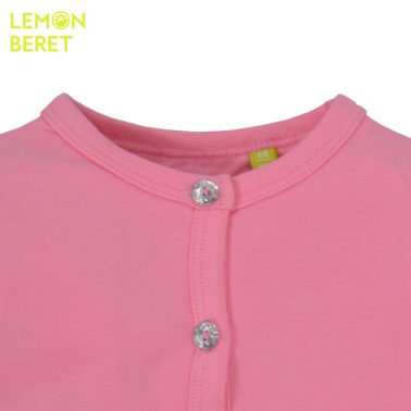 Трикотажно болеро Lemon Beret в розово с бляскави копчета