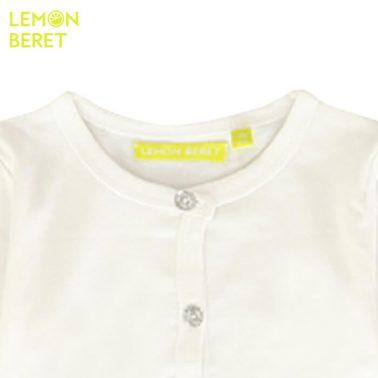 Трикотажно болеро Lemon Beret в бяло с бляскави копчета