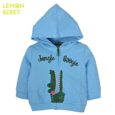 Суитшърт Lemon Beret с щампа крокодил в светло синьо