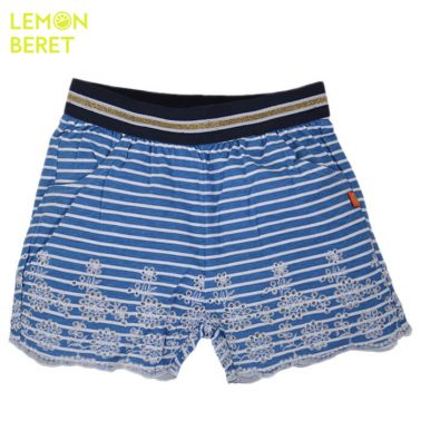 Панталонки на сини райета с рязана бродерия от Lemon Beret