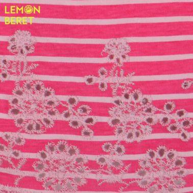 Панталонки на цикламени райета с рязана бродерия от Lemon Beret