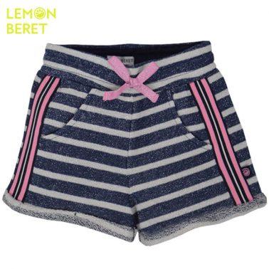 Къси панталонки на райета с ламе от Lemon Beret тъмно сини