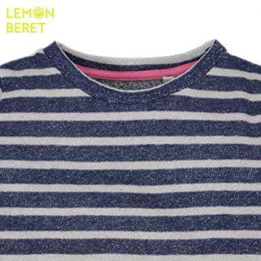 Блуза на тъмно сини райета с ламе от Lemon Beret