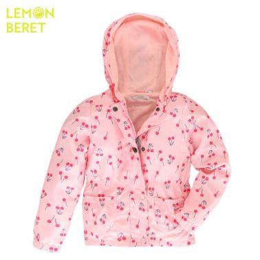 Ветроустойчиво яке в розово с черешки от Lemon Beret