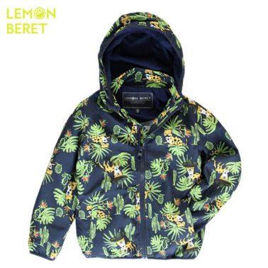 Ветроустойчиво яке с палмови листа Lemon Beret в тъмно синьо