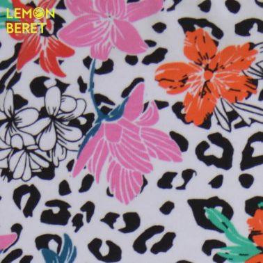 Клин с леопардова шарка и розови цветя от Lemon Beret