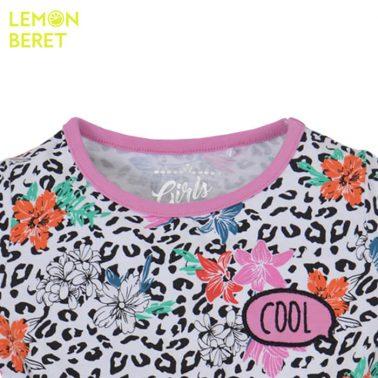 Леопардова рокля с цветя в розово от Lemon Beret