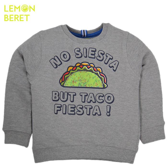 Спортна блуза с щампа тако от Lemon Beret в сиво