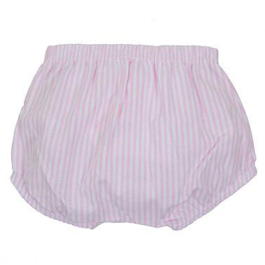 Гащи-балон на розови райета с кокетна панделка