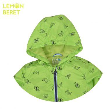 Ветроустойчиво яке с банани от Lemon Beret зелено