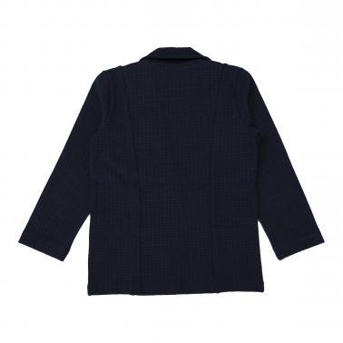 Елегантно трикотажно сако в тъмно синьо с джобове