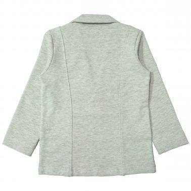 Елегантно трикотажно сако в сив меланж с джобове