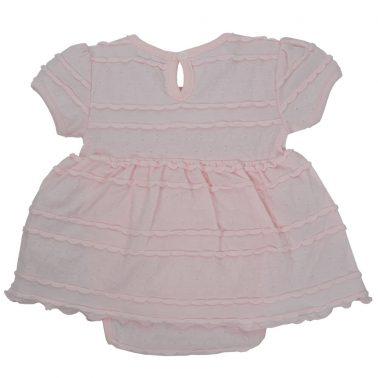 Боди-рокля Точици в розово с нежен релеф