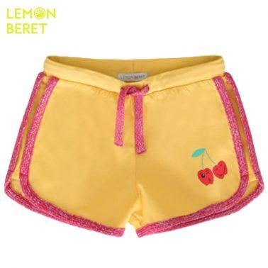 Панталонки Lemon Beret в жълто с бляскав кант и черешки