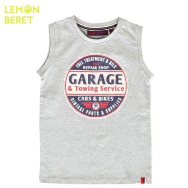 Потник с щампа Garage в сиво от Lemon Beret