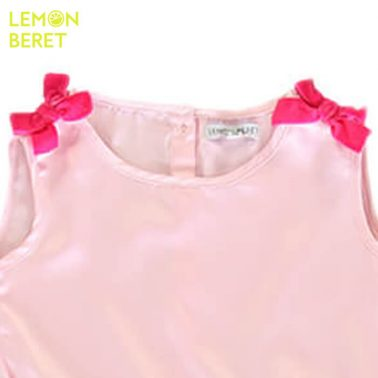 Рокля с тюл и панделки от Lemon Beret в розово