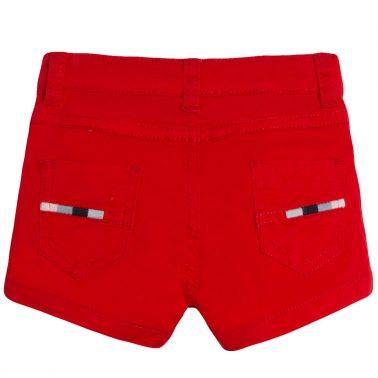 Къси панталонки в наситено червено от Newness