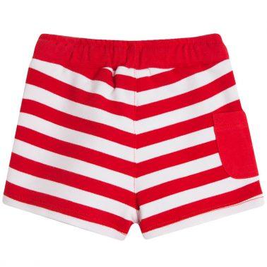 Трикотажни къси панталонки на червени райета Newness