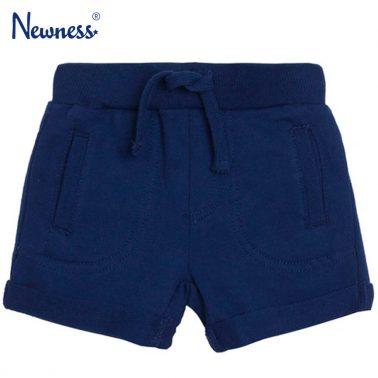 Къси панталонки Newness в тъмно синьо с джобчета
