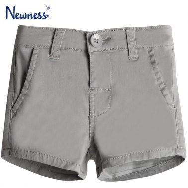 Къси панталонки Newness в сиво с италиански джобчета