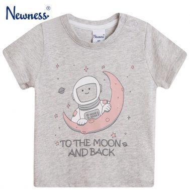 Тениска с астронавт от Newness в сив цвят