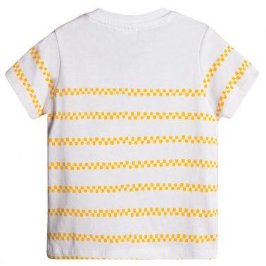 Тениска Newness в бяло с блъскаща се количка