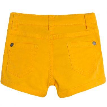 Къси панталонки Newness в слънчево жълт цвят