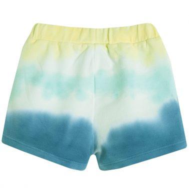 Сини къси панталонки Newness в преливащи цветове