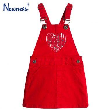 Класически сукман Newness в червено с прозрачно сърце