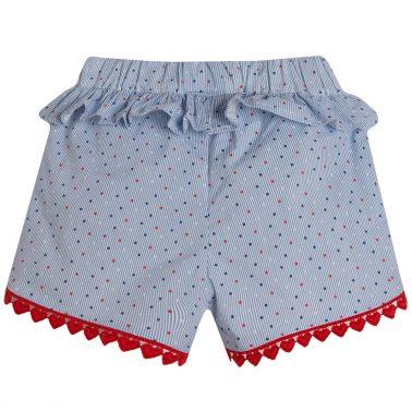 Къси панталонки на райета и звездички в синьо от Newness
