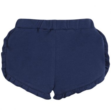 Трикотажни шорти с къдрички в тъмно синьо от Newness