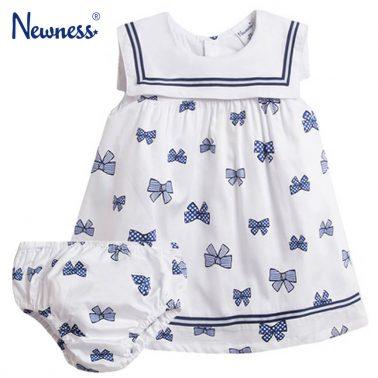 Сет рокля с гащи на сини панделки с моряшка яка от Newness