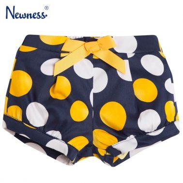Текстилни къси панталонки в тъмно синьо на точки от Newness