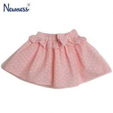 Пола с волан и панделка в розово на сърца от Newness