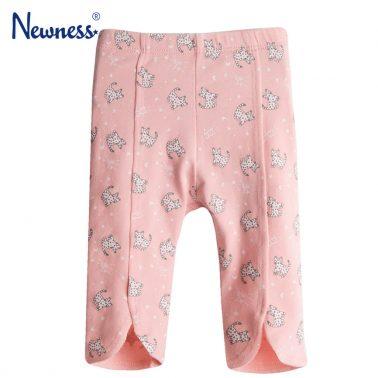 Клин с леопарди и декоративни шевове от Newness в розово