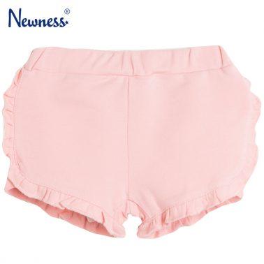 Трикотажни шорти с къдрички в розово от Newness