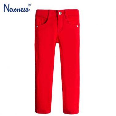 Панталон в червено с прозрачен джоб на звездички от Newness