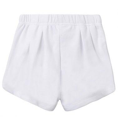Трикотажни къси панталонки в бяло с цветни връзки от Newness