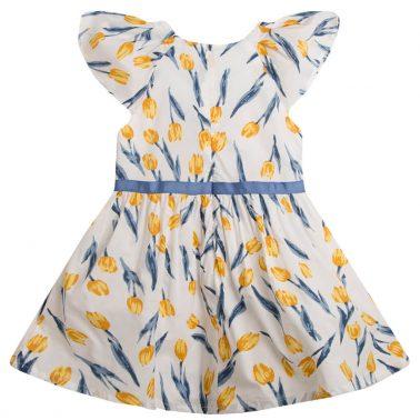 Елегантна рокля на лалета с панделка от Newness бяла