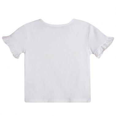 Тениска с плодчета от пайети в бяло от Newness