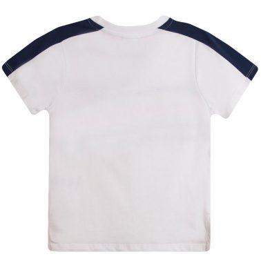 Тениска Newness в бяло с цветни платки и въженце